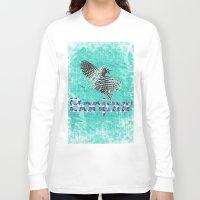 bonjour Long Sleeve T-shirts featuring Bonjour by cvrcak