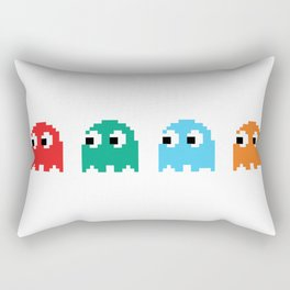 8-Bit Pacman Ghosts Rectangular Pillow
