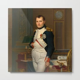 """Jacques-Louis David """"The Emperor Napoleon in His Study at the Tuileries"""" Metal Print"""