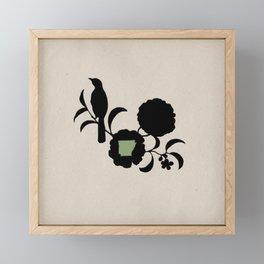 Arkansas - State Papercut Print Framed Mini Art Print