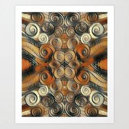 Coiled Metals Art Print