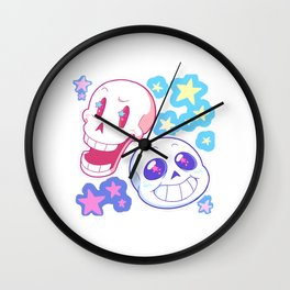 undertale friends Wall Clock