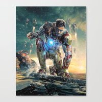 ironman Canvas Prints featuring Ironman by crayonide