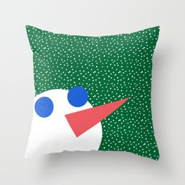 Memphis Christmas Snowman Throw Pillow