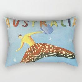 Australian Vintage Travel Poster Rectangular Pillow