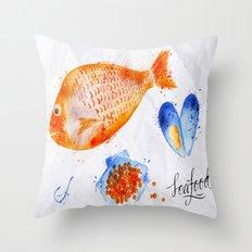 Fish Menu Throw Pillow