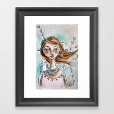 The Owl Whisperer Framed Art Print
