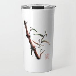 Bamboo on white background Travel Mug