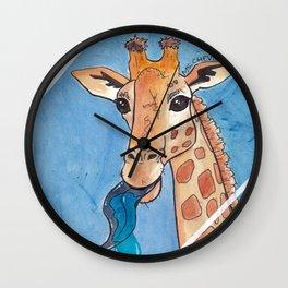 Window Licker-Giraffe Wall Clock