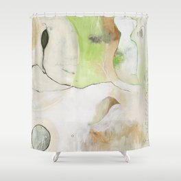 """Dream Without Fear"" Original Painting by Flora Bowley Shower Curtain"