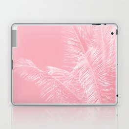Millennial Pink illumination of Heart White Tropical Palm Hawaii Laptop & iPad Skin
