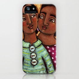 Sara and Raj iPhone Case
