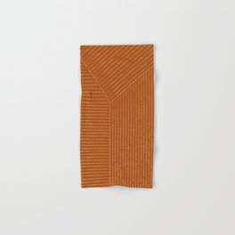 Lines (Rust) Hand & Bath Towel