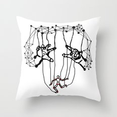 the Puppet Throw Pillow