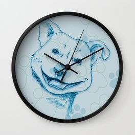 Happy PitBull Wall Clock
