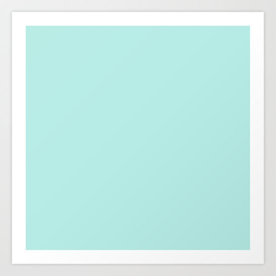 Simply aqua turquoise blue lightblue color - Mix and Match with Simplicity of Life on #Society6 Art Print