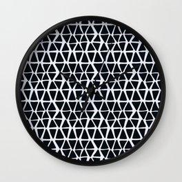 Black Angles Wall Clock