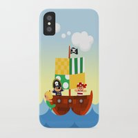 pirate ship iPhone & iPod Cases featuring pirate ship by Alapapaju