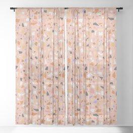 Terrazzo arlecchino Sheer Curtain