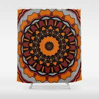 gladiator Shower Curtains featuring Furious Gladiator by Silentwolf