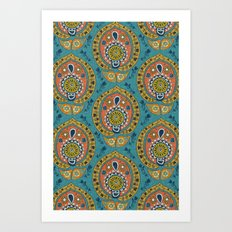 safa blue Art Print
