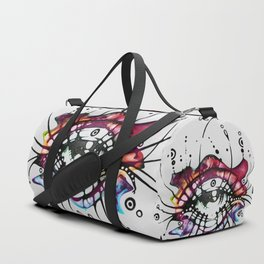 """""""Pop Art Eyelashes"""" Duffle Bag"""