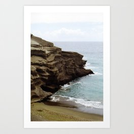 Green Sand Beach Art Print