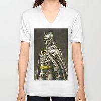 1989 V-neck T-shirts featuring BAT-MAN 1989 by Bungle