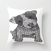 jack russell Throw Pillows featuring Jack Russell by DiAnne Ferrer