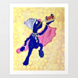Super Grover - The Number of the Day Art Print