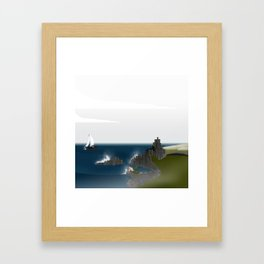 Creatures of the North: Mermaid Framed Art Print