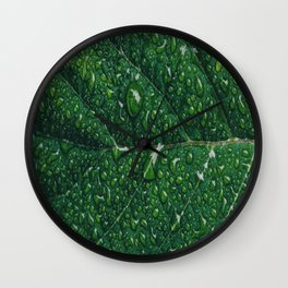 leaf dew drops Wall Clock