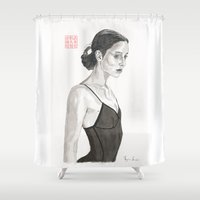 ballerina Shower Curtains featuring Ballerina by Bryan James