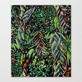 A Good Tropical Pattern With a Black Background is Hard to Find Canvas Print