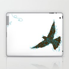 Bird Fly No. 2  (Brown/Aqua) Laptop & iPad Skin