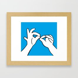 ASL Interpret Framed Art Print
