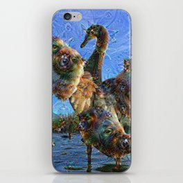 Dream Creatures, Swan, DeepDream iPhone Skin
