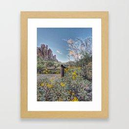 Peralta Trail Head Framed Art Print