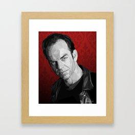 Hugo Weaving low poly Framed Art Print