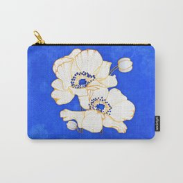 Ultramarine Blue :: Anemones Carry-All Pouch
