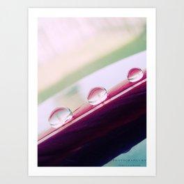 Three Drops Art Print