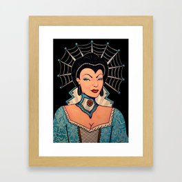 Blue Pinup SciFi Ice Queen by Liz Carroll Framed Art Print