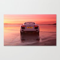audi Canvas Prints featuring Audi R8 - Rear view by Rory Trappe