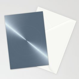 Cold Blue Steel Machined Metal Stationery Cards