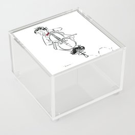 Funny Cello Player Cartoon - Pogo Cellist Acrylic Box