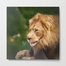 King Of The Jungle (digital Painting) Metal Print