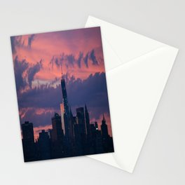 Sunset in NYC  Stationery Cards
