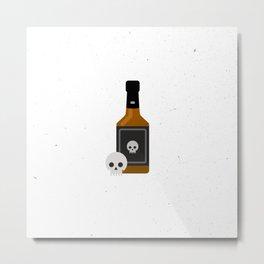 Whisky Death Metal Print