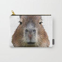 Capybara Face Hairy Front Classy Axpect Mammal Carry-All Pouch