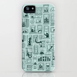 I've Seen Strange Things in City Windows iPhone Case